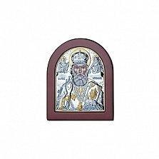 Серебряная икона Святого Николая
