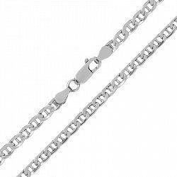 Серебряная цепь Антарес с родием, 5 мм