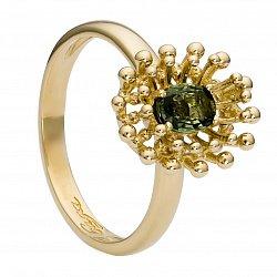 Золотое кольцо Анкара с сапфиром