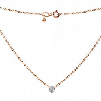 Золоте кольє Алія в комбінованому кольорі з діамантами