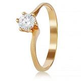 Золотое кольцо с кристаллом Swarovski Помолвка