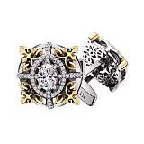 Золотые запонки с бриллиантами Виконт