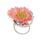 Серебряное кольцо с фианитами Садрия