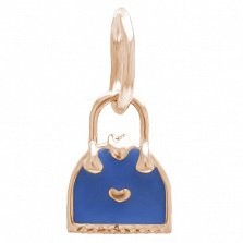 Золотой подвес Дамская сумочка с эмалью