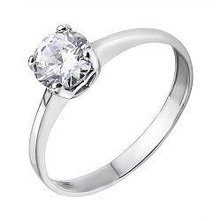 Серебряное кольцо с фианитом  000116315