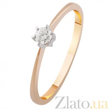 Золотое кольцо с бриллиантом Эстель KBL--К1963/крас/брил