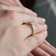 Золотое кольцо Вдохновение с бриллиантом