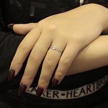 Кольцо из белого золота Вайолет с бриллиантами