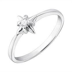 Кольцо из белого золота Адония с бриллиантом