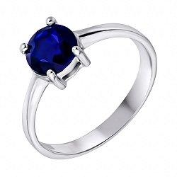 Серебряное кольцо с сапфиром 000132472