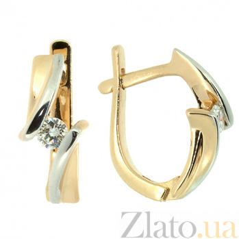 Золотые серьги в красном цвете с бриллиантами Альба ZMX--ED-6766_K