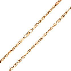 Цепочка из красного золота в фантазийном плетении, 3,2мм 000121589