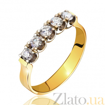 Золотое кольцо с бриллиантами Рената EDM-КД7408/2