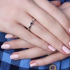 Золотое кольцо Связь с сапфиром