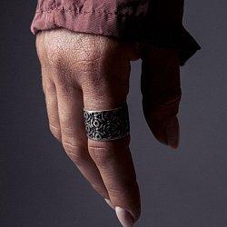 Кольцо из серебра Yoko с чернением 000091445