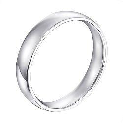 Золотое обручальное кольцо Вечная любовь в белом цвете