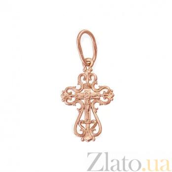 Золотой крестик Исцеление Господне HUF--11476