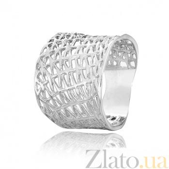 Серебряное кольцо Бионика 000028250