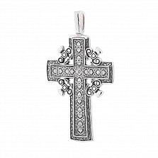 Крест из серебра Хвала Господу