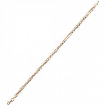 Браслет Джессика в красном золоте в плетении арабский бисмарк, 3мм 000047041