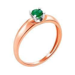 Золотое кольцо в комбинированном цвете с изумрудом 000117353