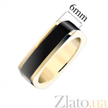 Золотое кольцо с черной эмалью Утро и вечер 25579st