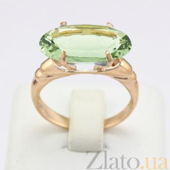 Золотое кольцо с зеленым аметистом Лауретта VLN--112-707-5