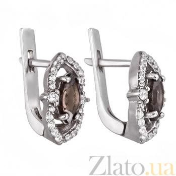 Серебряные серьги с кварцем Шарли 2176/9р кварц