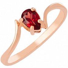 Золотое кольцо с гранатом Розетта