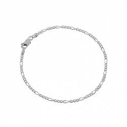 Серебряный браслет Сарагоса с родированием, 1,5 мм