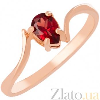 Золотое кольцо с гранатом Розетта 000023976