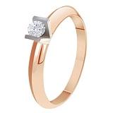 Золотое кольцо с бриллиантом Миледи