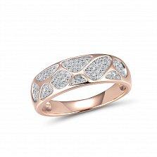 Золотое кольцо Луриньто с островками усыпки и бриллиантами
