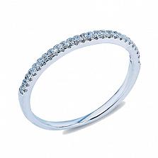 Серебряное кольцо с фианитами Небесная дорожка