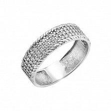 Серебряное кольцо Орнелла с белыми фианитами