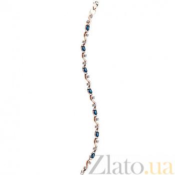 Золотой браслет с сапфирами и бриллиантами Рокайль KBL--БР021/крас/сапф