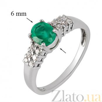 Серебряное кольцо с зеленым агатом Лауретта