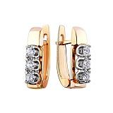 Золотые серьги Праймира с бриллиантами