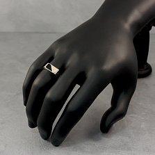 Серебряный перстень-печатка Дуайн в ониксом и золотой накладкой