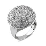 Золотое кольцо с усыпкой белых сапфиров Белое сияние