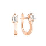 Золотые серьги Елизавета с бриллиантами