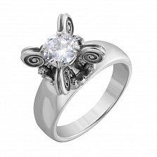 Серебряное кольцо Городецкий с цирконием