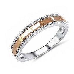 Обручальное кольцо Элодия из красного и белого золота с бриллиантами