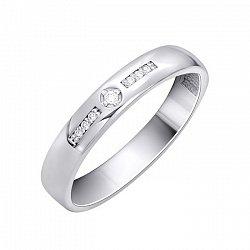 Обручальное кольцо в белом золоте Любовь и верность с бриллиантами