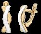 Серебряные серьги с позолотой Микс SLX--С32/229