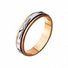 Обручальное кольцо из комбинированного золота Любовные чары