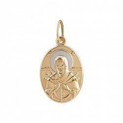 Золотая ладанка Божья Матерь Семистрельная 000081382