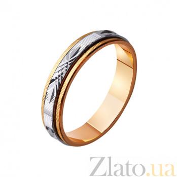 Обручальное кольцо из комбинированного золота Любовные чары TRF--421093