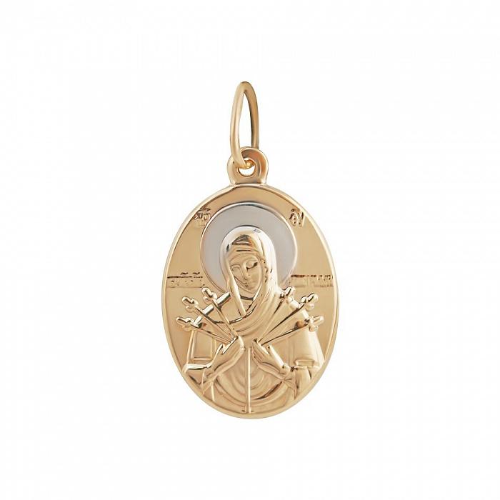 Золотая ладанка Божья Матерь Семистрельная 000081382 000081382
