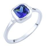 Серебряное кольцо Забава с синтезированным танзанитом